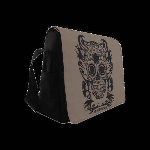 SKULL FLOWERS Messenger Bag (Model 1628)