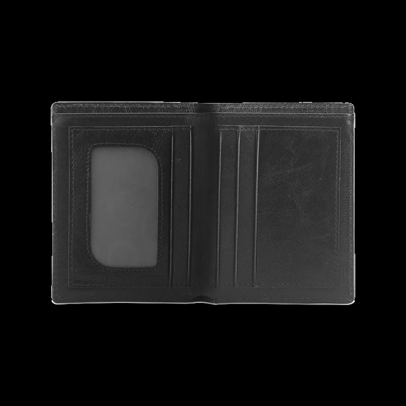 VEGAN FÜR TIERE Men's Leather Wallet (Model 1612)