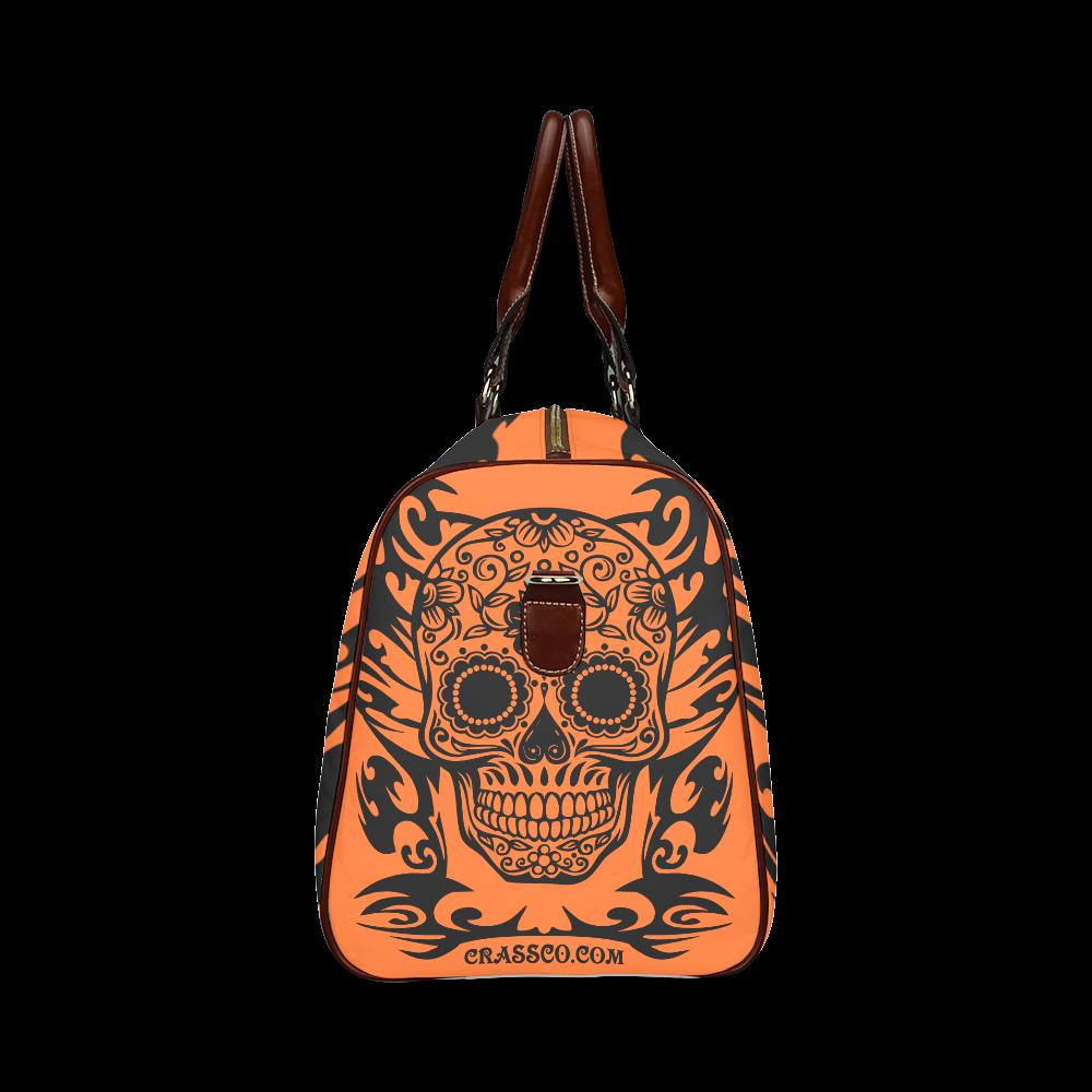 SKULL FLOWERS Waterproof Travel Bag/Large (Model 1639)