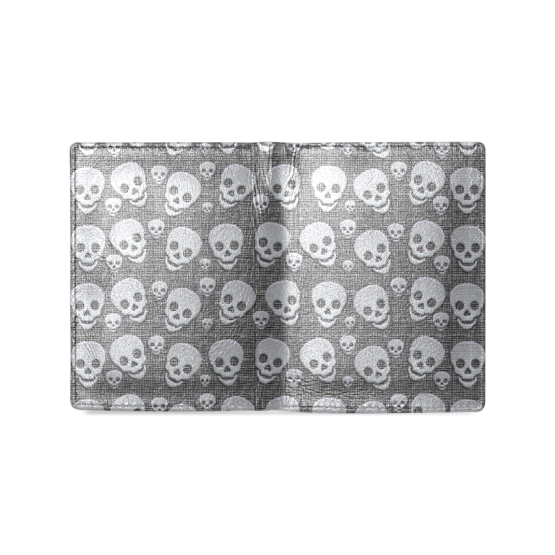 SKULLS EVOLUTION Men's Leather Wallet (Model 1612)