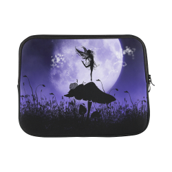 A beautiful fairy dancing on a mushroom silhouette Macbook Pro 13''