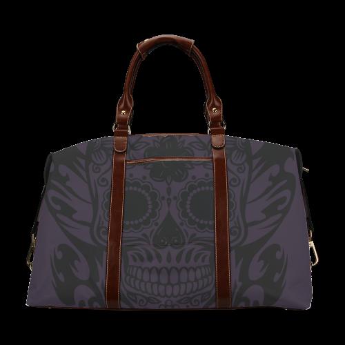SKULL FLOWERS Classic Travel Bag (Model 1643)