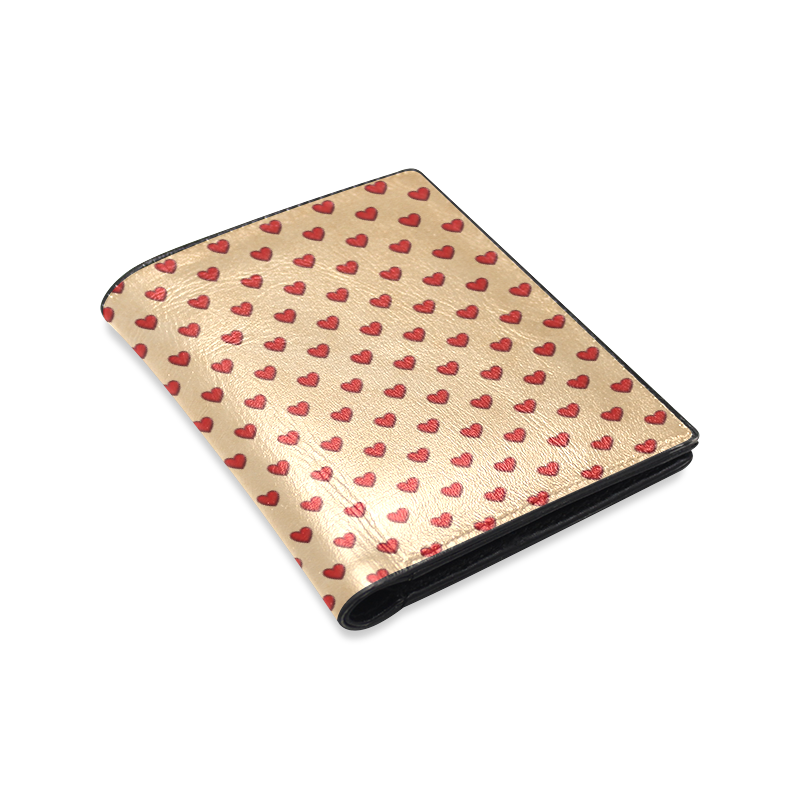 RETRO HEARTS Men's Leather Wallet (Model 1612)