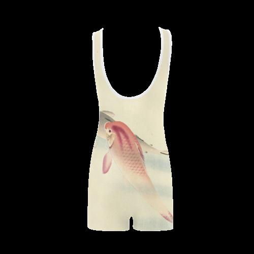 Carp Fish Japanese woodcut Classic One Piece Swimwear (Model S03)
