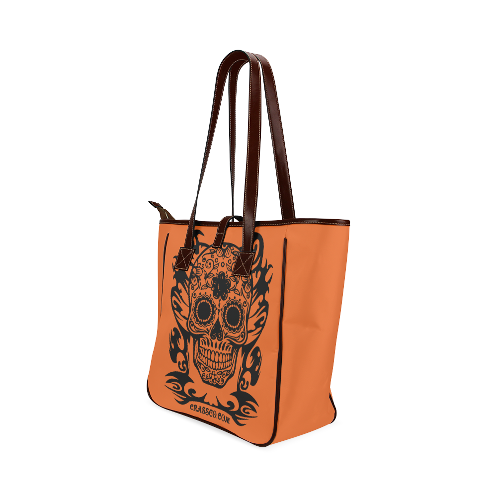 SKULL FLOWERS Classic Tote Bag (Model 1644)