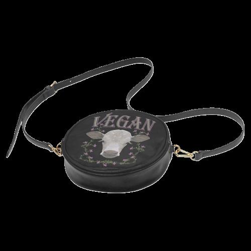 VEGAN CALF Round Sling Bag (Model 1647)