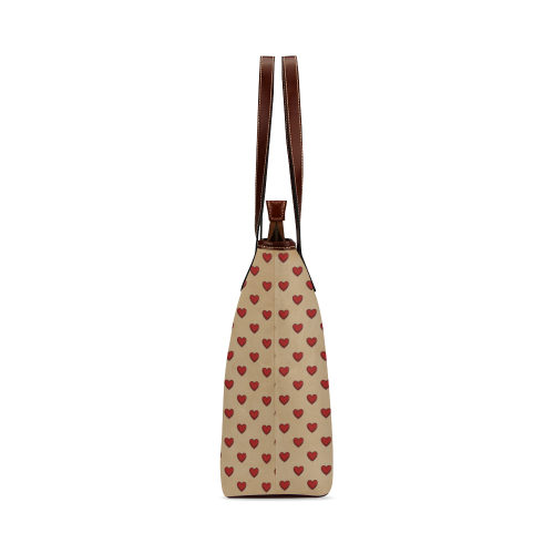 RETRO HEARTS Shoulder Tote Bag (Model 1646)