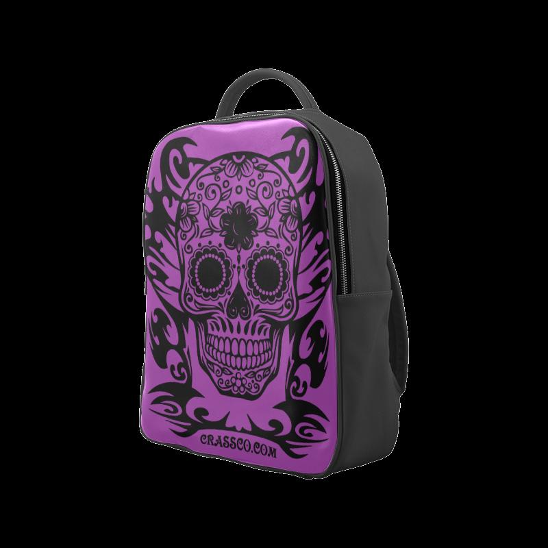 SKULL FLOWERS LILAC Popular Backpack (Model 1622)
