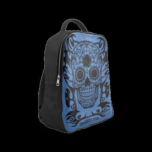 SKULL FLOWERS NIGHTBLUE Popular Backpack (Model 1622)