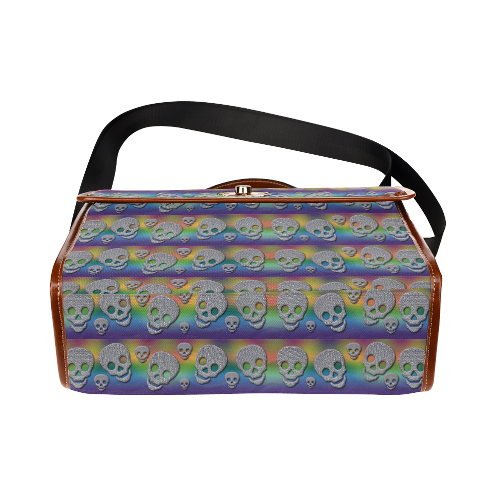 SKULLS MULTICOLOR Waterproof Canvas Bag/All Over Print (Model 1641)