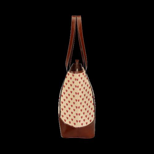VINTAGE HEARTS Tote Handbag (Model 1642)
