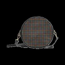 Tartan grey, red and yellow VAS2 Round Sling Bag (Model 1647)