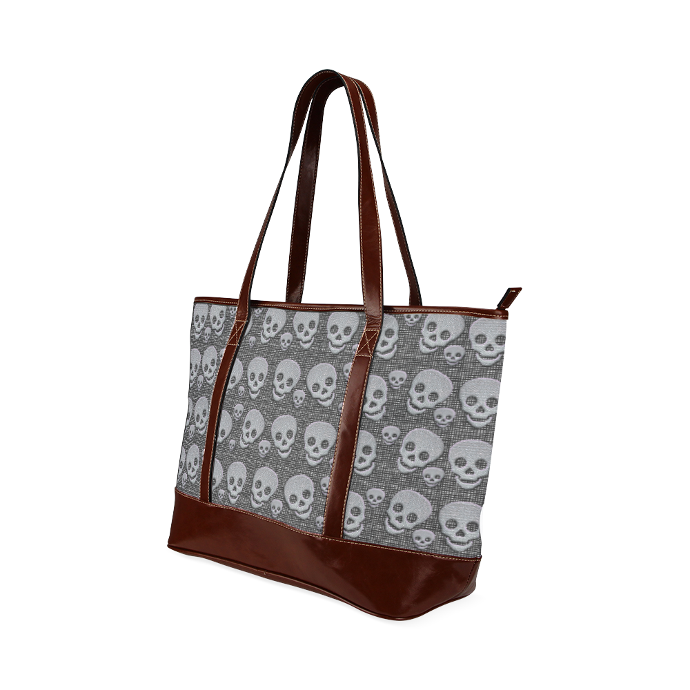 SKULLS EVOLUTION Tote Handbag (Model 1642)