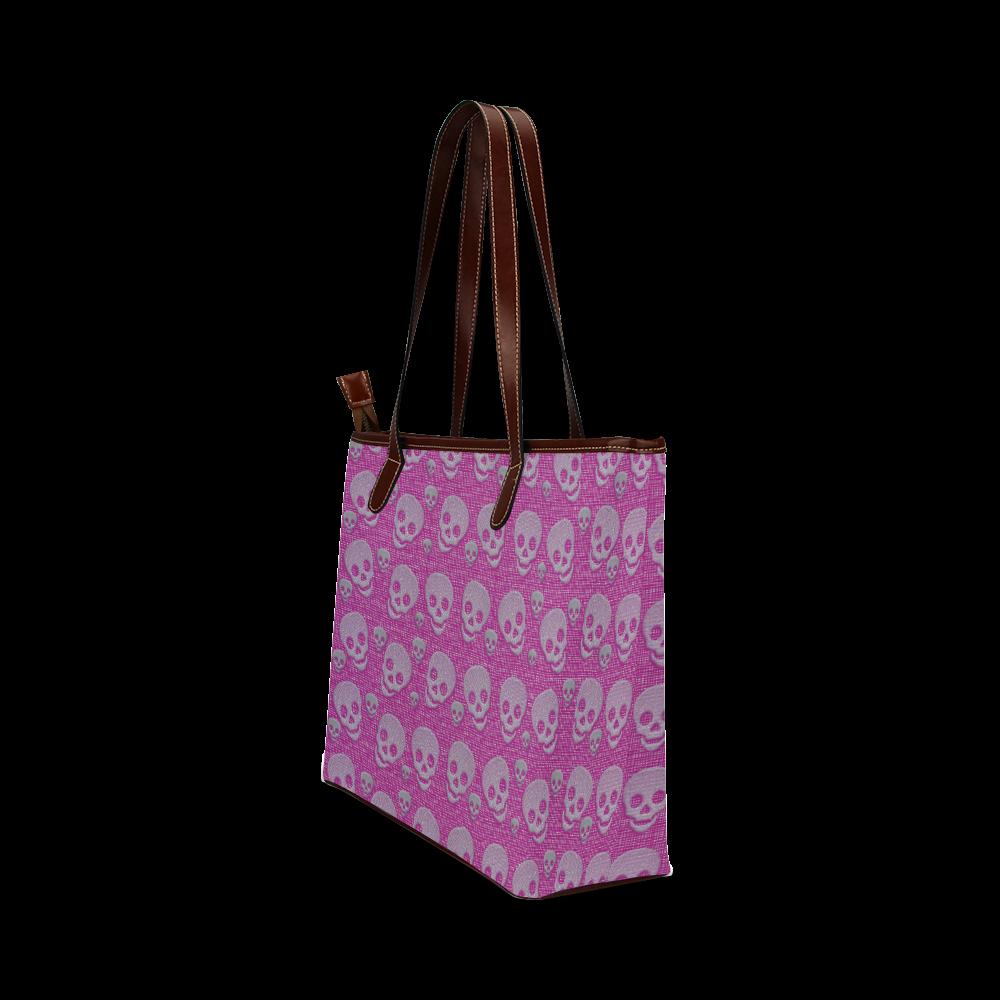 SKULLS EVOLUTION Shoulder Tote Bag (Model 1646)