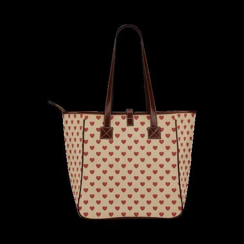 RETRO HEARTS Classic Tote Bag (Model 1644)