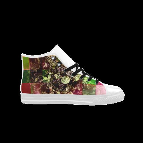 Foliage Patchwork #13 - Jera Nour Aquila High Top Microfiber Leather Women's Shoes (Model 027)