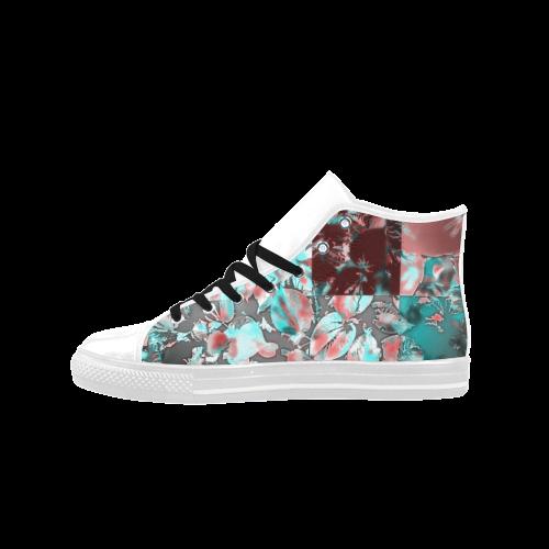 Foliage Patchwork  #12 - Jera Nour Aquila High Top Microfiber Leather Women's Shoes (Model 027)