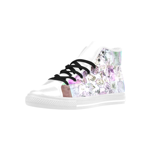 Foliage Patchwork #13 - Jera Nour Aquila High Top Microfiber Leather Women's Shoes (Model 027)
