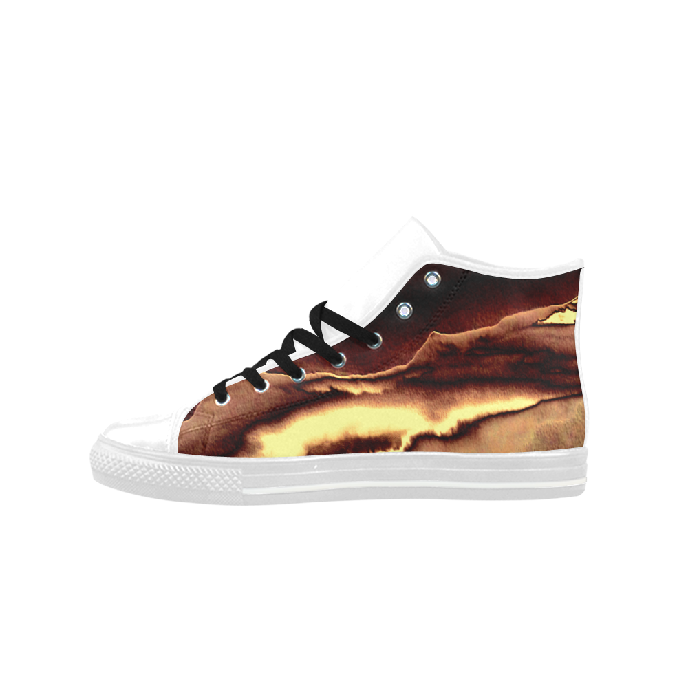 Blazing Portal - Jera Nour Aquila High Top Microfiber Leather Women's Shoes (Model 027)