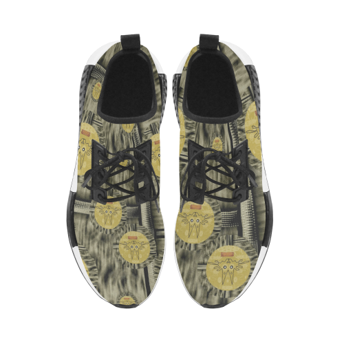 Rabbits and Lace to keep the senses high popart Men's Draco Running Shoes (Model 025)