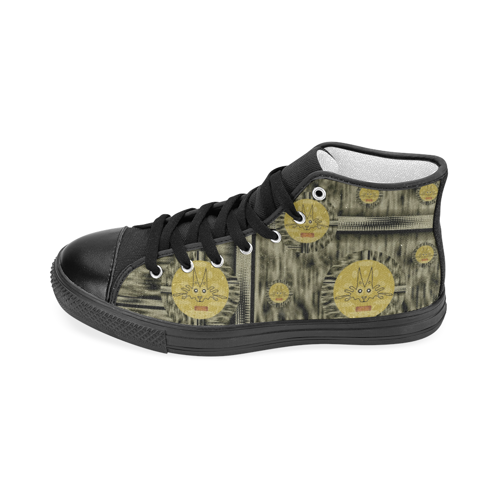 Rabbits and Lace to keep the senses high popart Men's Classic High Top Canvas Shoes (Model 017)
