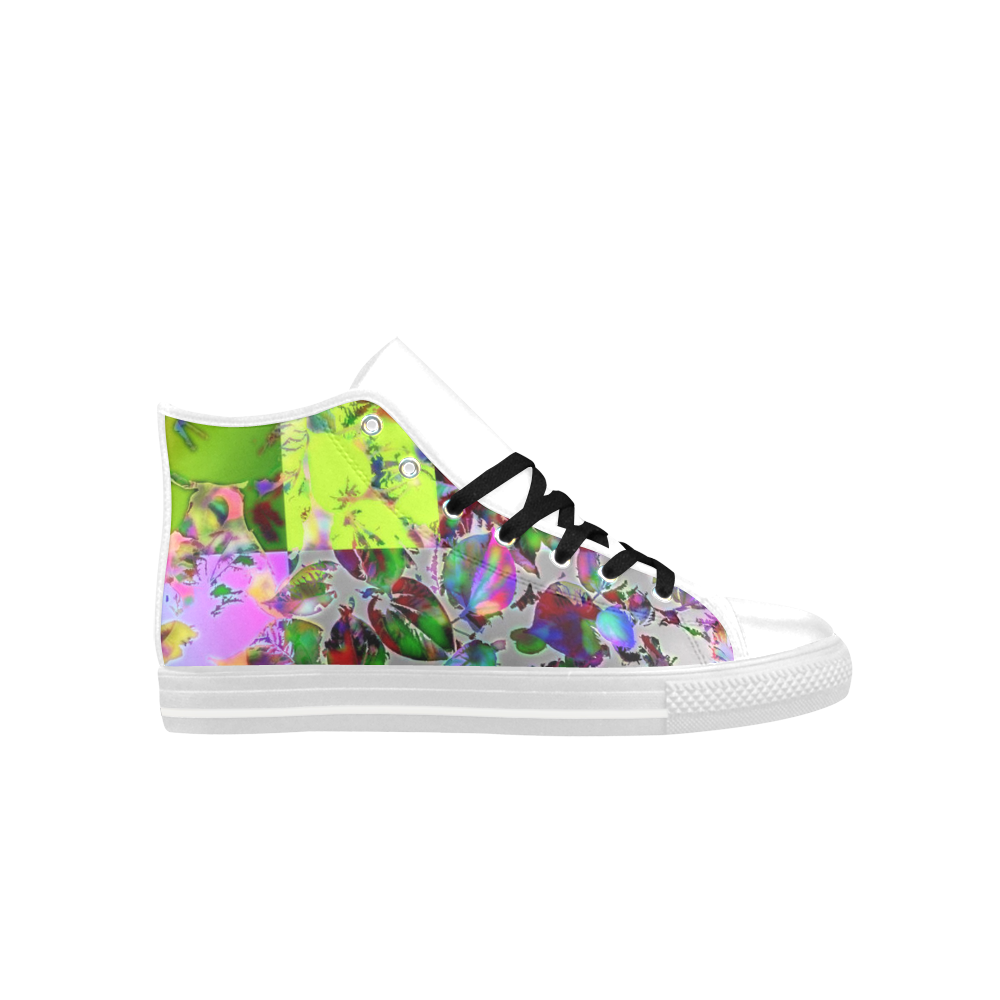 Foliage Patchwork  #12 - Jera Nour Aquila High Top Microfiber Leather Women's Shoes (Model 027)