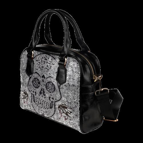 Mosaic Skull Shoulder Handbag (Model 1634)