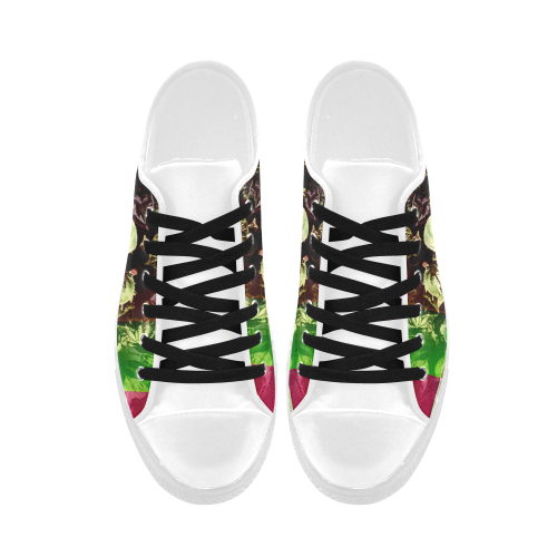 Foliage Patchwork #13 - Jera Nour Aquila Microfiber Leather Women's Shoes (Model 028)
