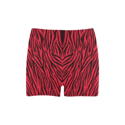 Red Zebra Stripes Briseis Skinny Shorts (Model L04)