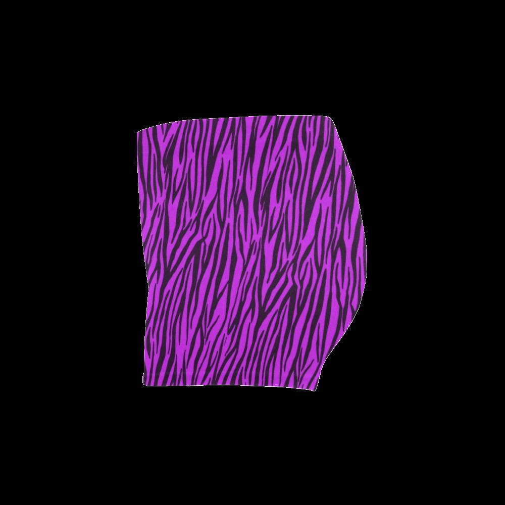 Purple Zebra Stripes Briseis Skinny Shorts (Model L04)