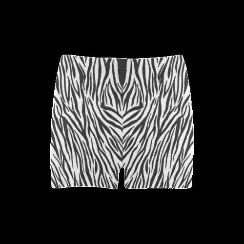 Zebra Stripes Briseis Skinny Shorts (Model L04)