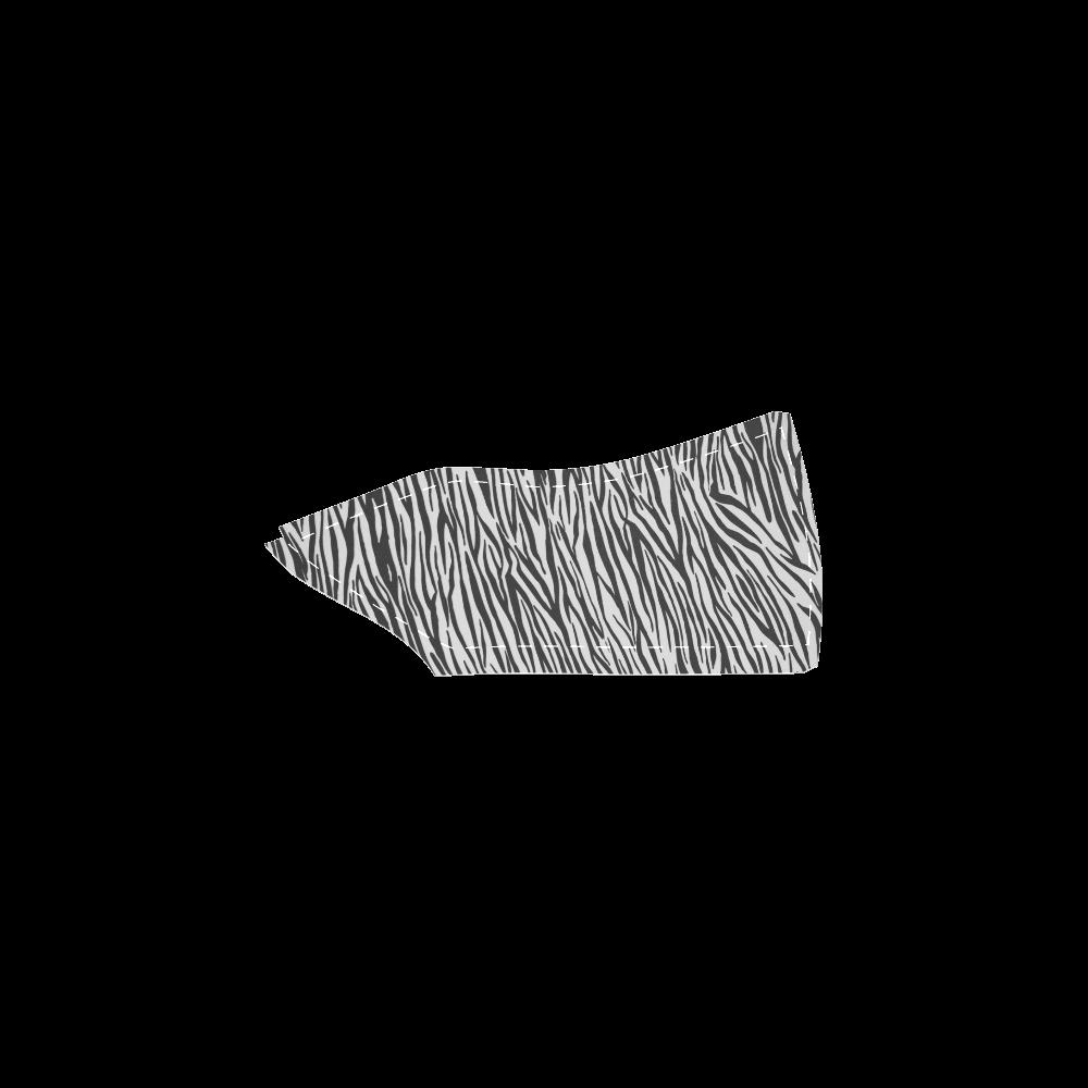 Zebra Stripes Women's Slip-on Canvas Shoes (Model 019)