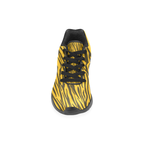 Yellow Zebra Stripes Women's Running Shoes (Model 020)