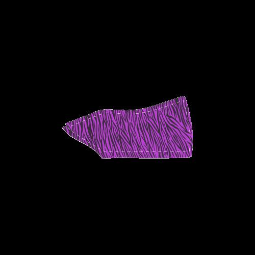 Purple Zebra Stripes Women's Unusual Slip-on Canvas Shoes (Model 019)