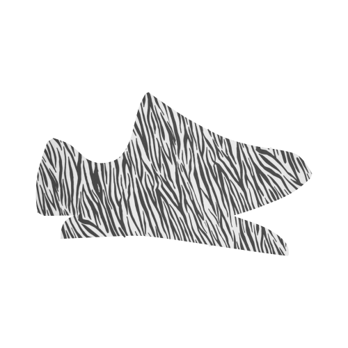 Zebra Stripes Grus Women's Breathable Woven Running Shoes (Model 022)