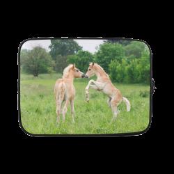 Haflinger Horses Cute Funny Pony Foals Playing Horse Rearing Custom Laptop Sleeve 14''