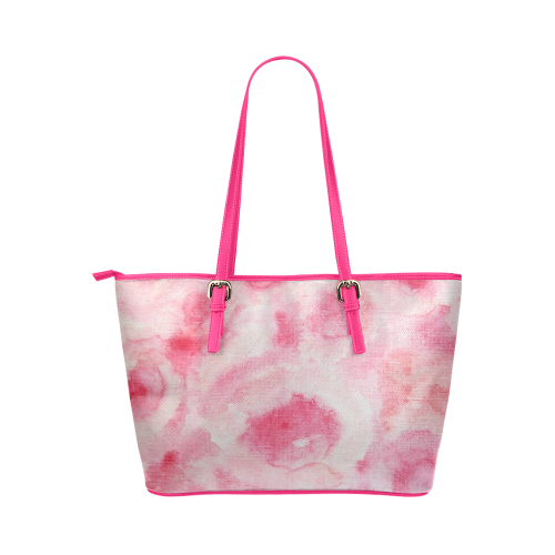 Fleur de Corail Sérénade Leather Tote Bag/Large (Model 1651)