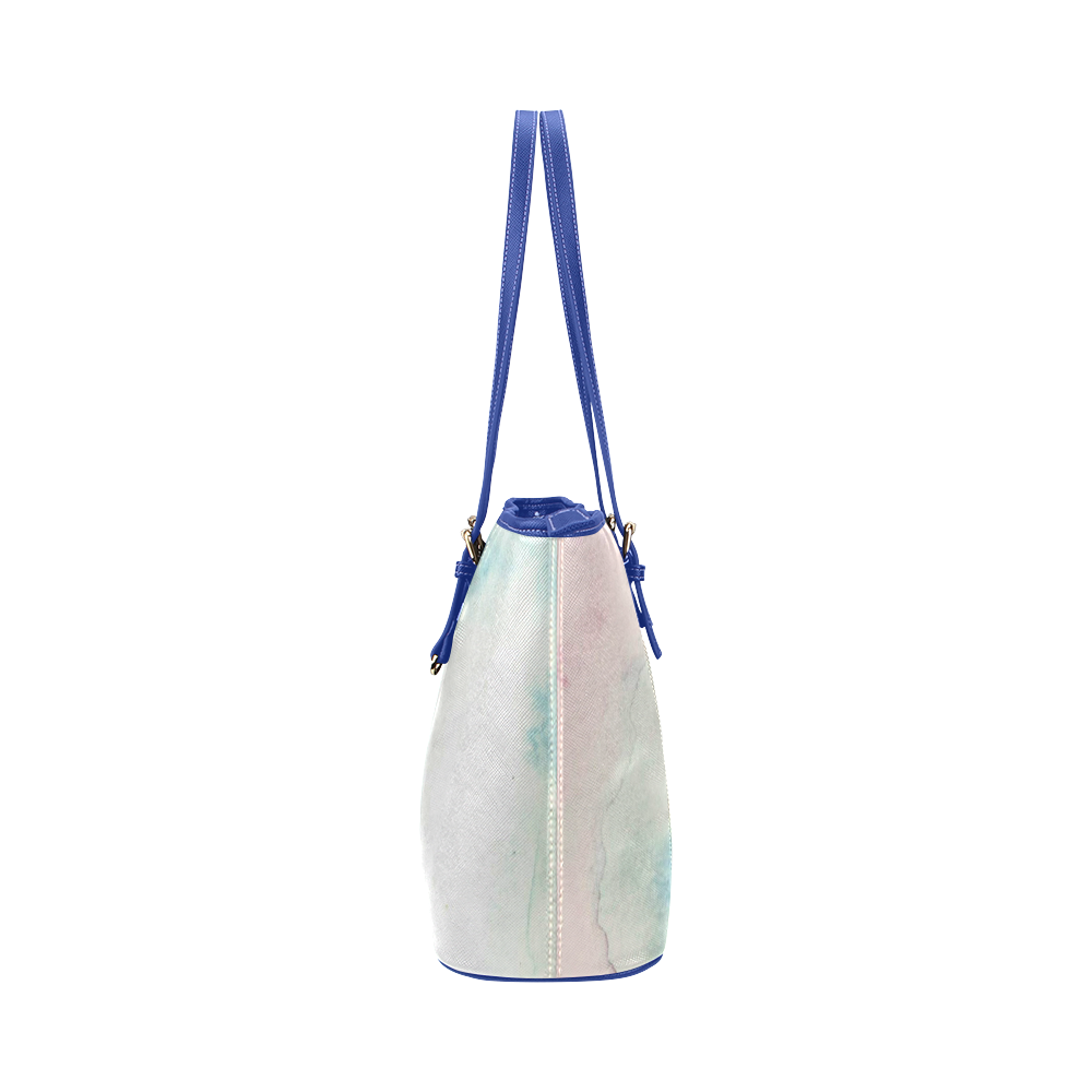 Misty Daydream Leather Tote Bag/Large (Model 1651)