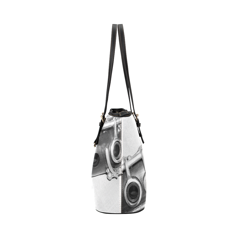 Clarinet Leather Tote Bag/Large (Model 1651)