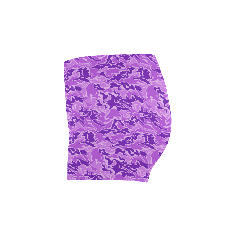 Camo Purple Camouflage Print Pattern Briseis Skinny Shorts (Model L04)