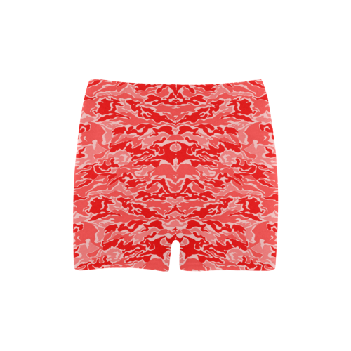 Camo Red Camouflage Print Pattern Briseis Skinny Shorts (Model L04)