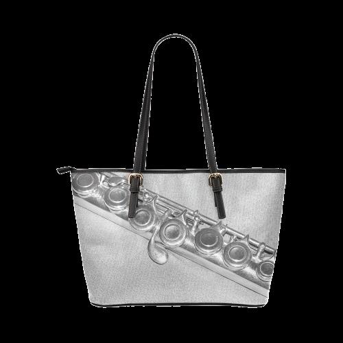 Flute Leather Tote Bag/Large (Model 1651)