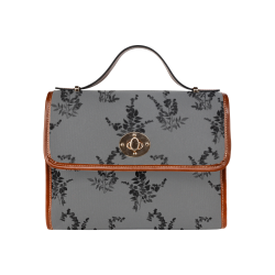 Tiny black flowers Waterproof Canvas Bag/All Over Print (Model 1641)