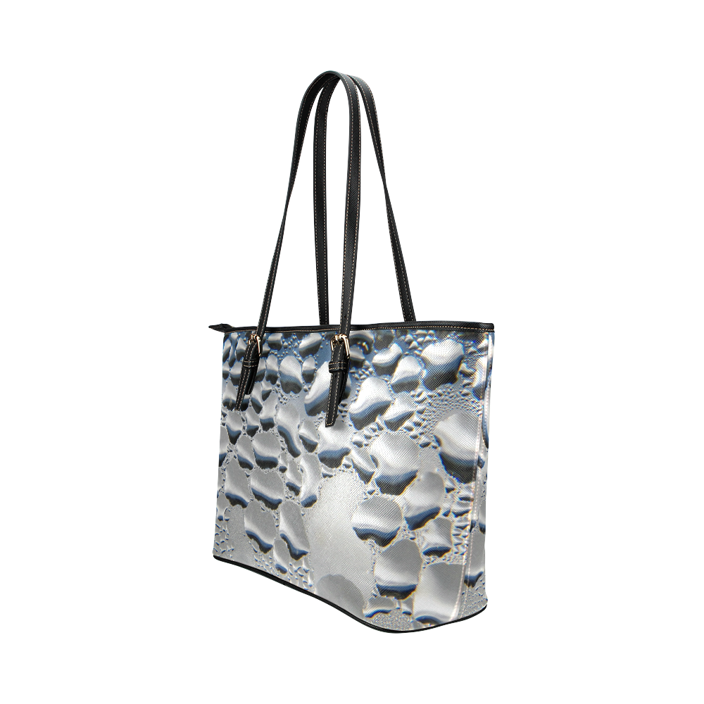Silver Condensation Leather Tote Bag/Large (Model 1651)