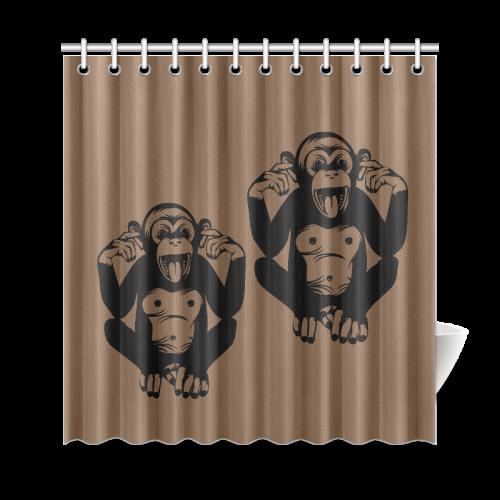 "Monkey-Kids Shower Curtain 69""x72"""