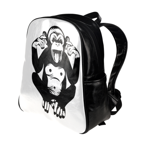 Monkey-Baby Multi-Pockets Backpack (Model 1636)