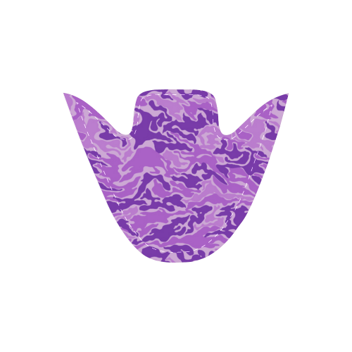 Camo Purple Camouflage Pattern Print Women's Unusual Slip-on Canvas Shoes (Model 019)