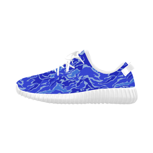 Camo Blue Camouflage Pattern Print Grus Women's Breathable Woven Running Shoes (Model 022)