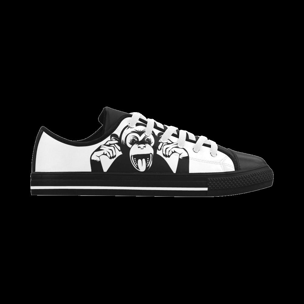 Monkey-Baby Aquila Microfiber Leather Women's Shoes (Model 028)