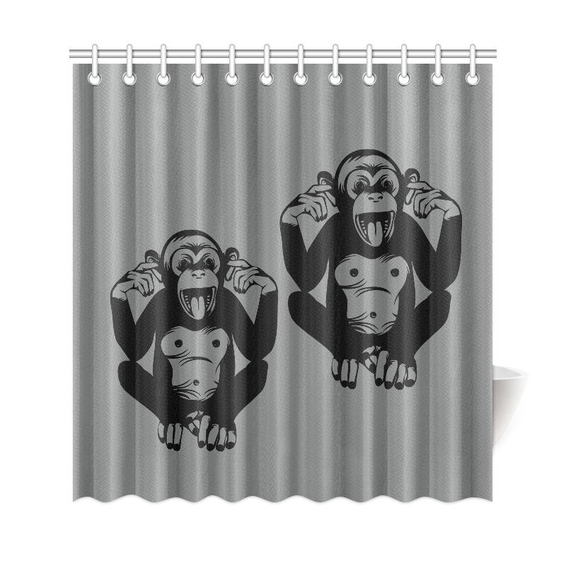 "Monkey-Kids Shower Curtain 69""x72"""